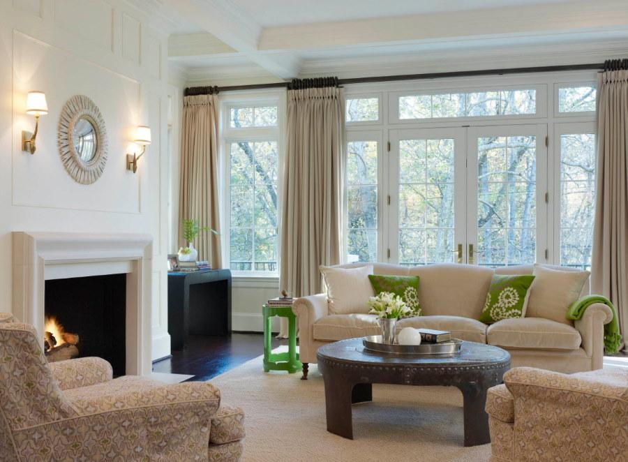 Подбор штор под мягкую мебель в гостиной