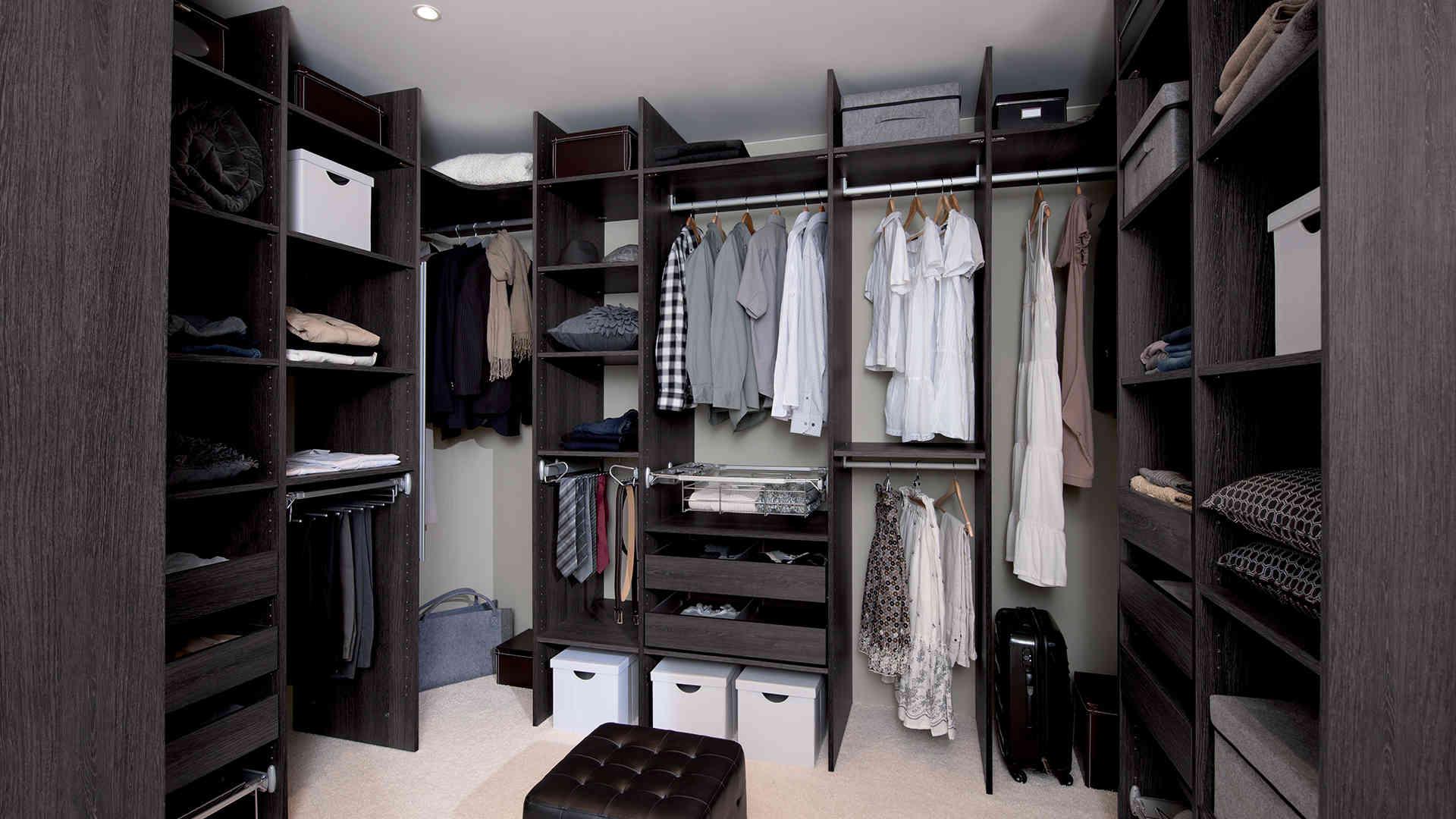 система хранения вещей для гардеробной