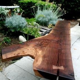 современная садовая скамейка оформление фото