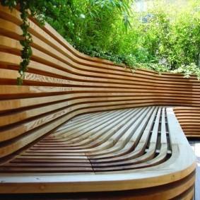 современная садовая скамейка виды идеи
