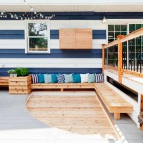 современная садовая скамейка варианты оформления
