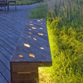 современная садовая скамейка оформление