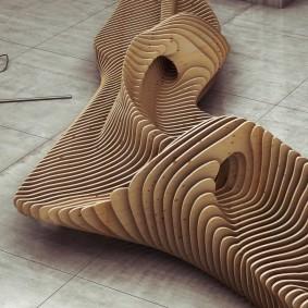 современная садовая скамейка идеи фото