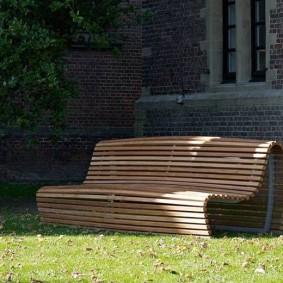 современная садовая скамейка фото видов