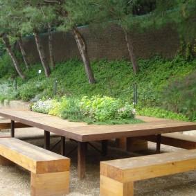 современная садовая скамейка фото оформление
