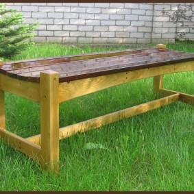 современная садовая скамейка фото декора