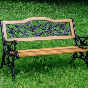современная садовая скамейка идеи дизайна