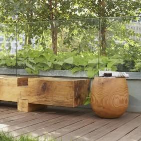современная садовая скамейка идеи оформления