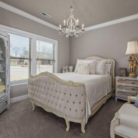 современная отделка спальни декор фото
