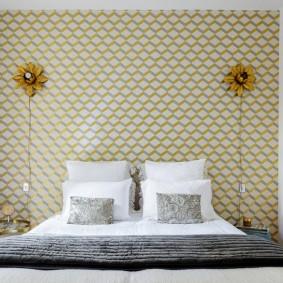 современная отделка спальни дизайн фото