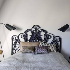 современная отделка спальни варианты фото