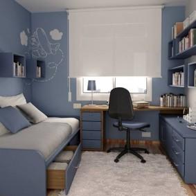 детская комната для школьника виды оформления