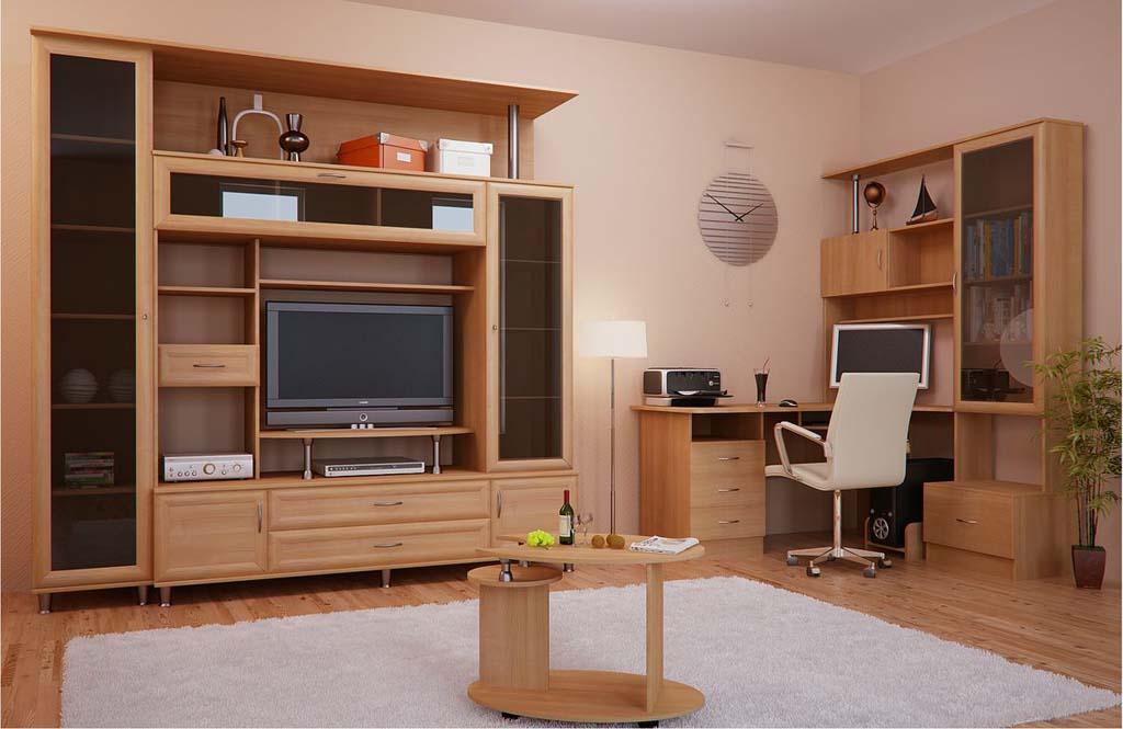 стенка с компьютерным столом в гостиную
