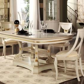стол и стулья для гостиной фото дизайна