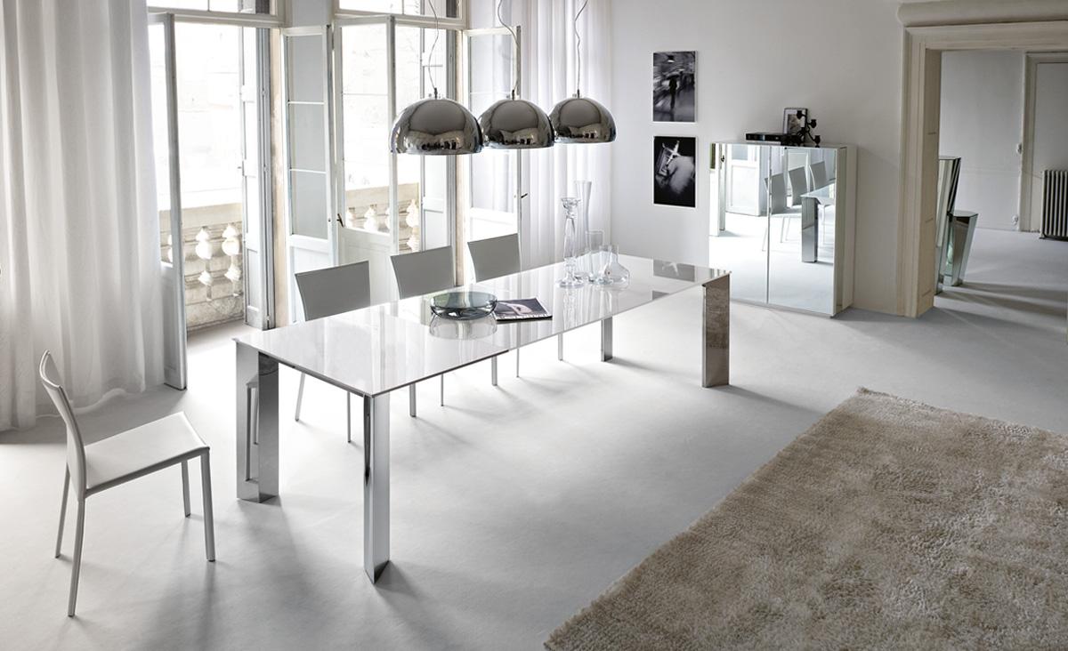 стол и стулья для гостиной хай тек