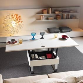 стол трансформер для гостиной