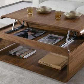 стол трансформер для гостиной идеи дизайн