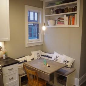 стол трансформер для гостиной интерьер