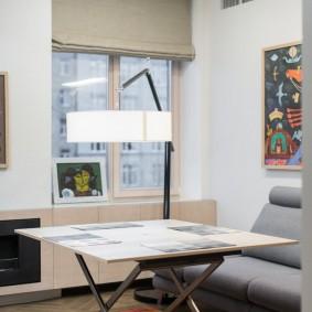 стол трансформер для гостиной оформление фото
