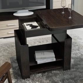 стол трансформер для гостиной виды идеи