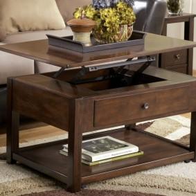 стол трансформер для гостиной виды фото