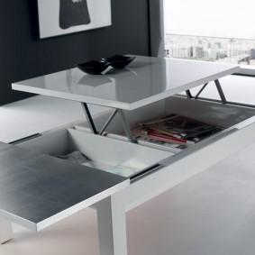стол трансформер для гостиной идеи