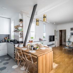 стол трансформер в гостиной дизайн