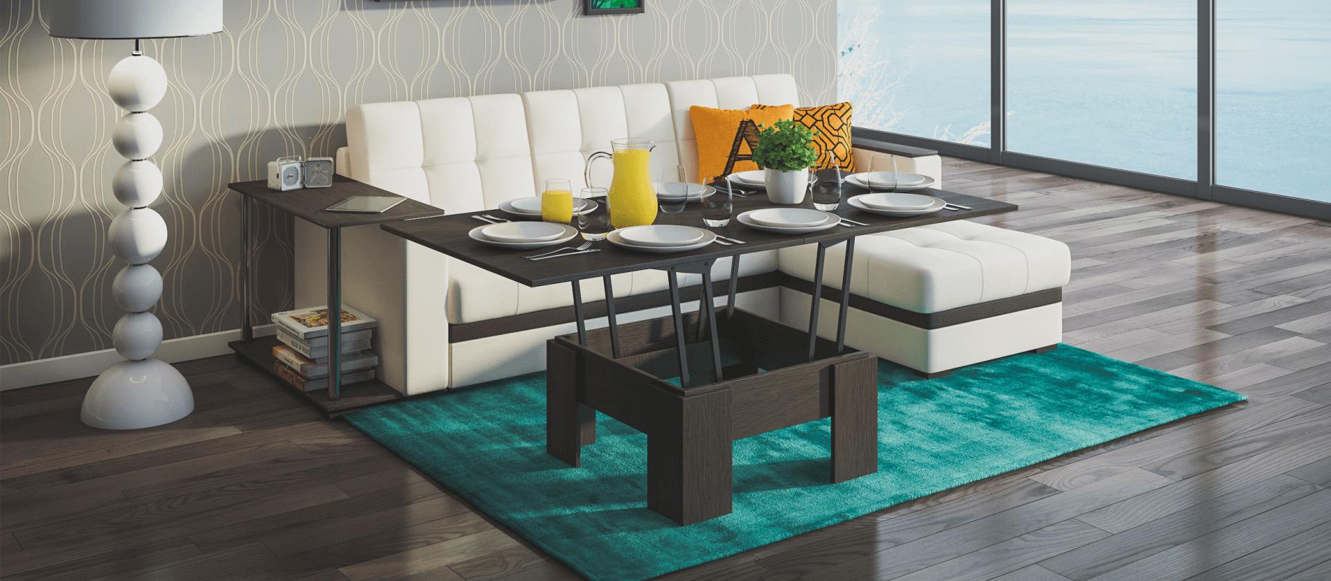 стол трансформер в гостиной фото дизайн