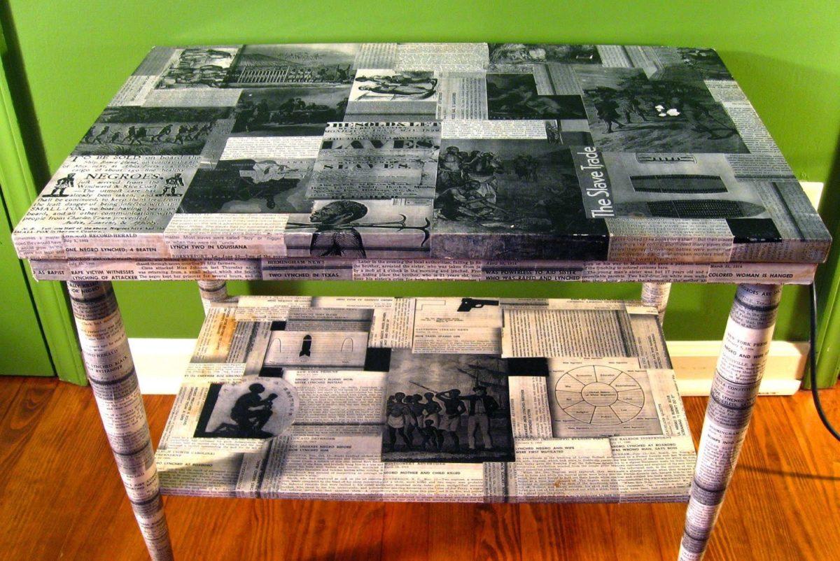 Картинки декупаж стола
