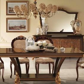 столы и стулья для гостиной идеи