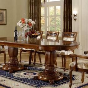 столы и стулья для гостиной идеи декор