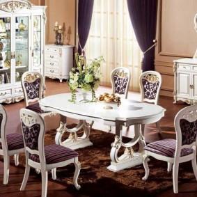 столы и стулья для гостиной фото интерьер