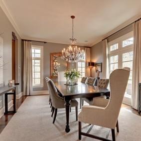столы и стулья для гостиной фото интерьера