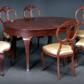 столы и стулья для гостиной идеи варианты