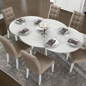 столы и стулья для гостиной варианты фото