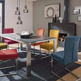 столы и стулья для гостиной фото виды