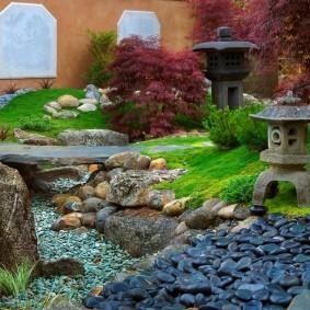сухой ручей на участке фото декора