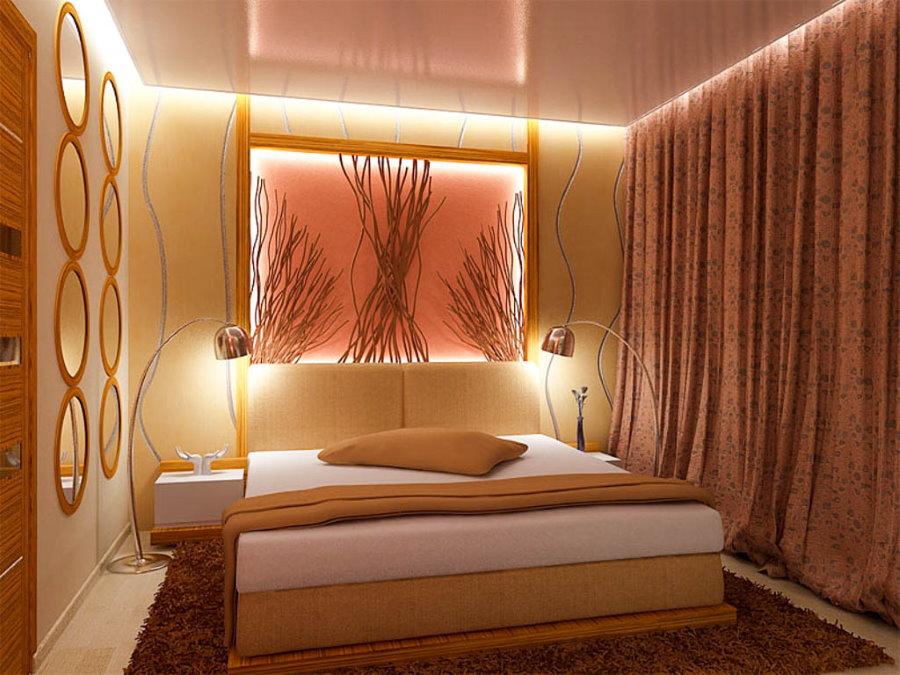 Освещение спальной комнаты без настоящего окна