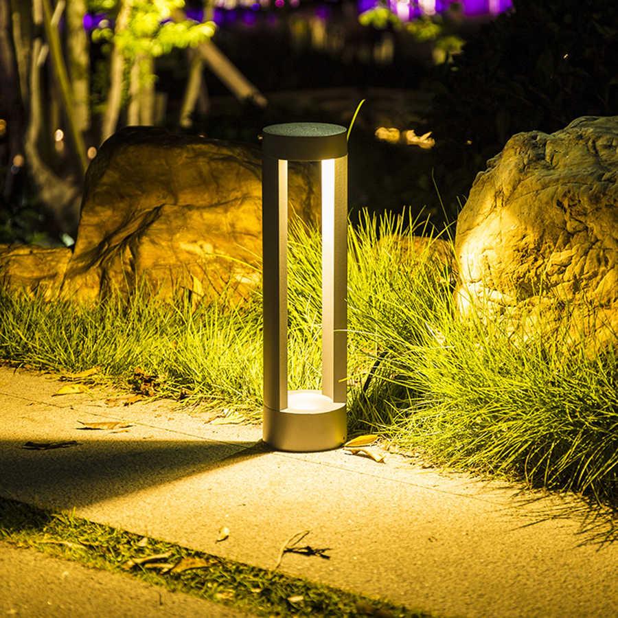 Стильный садовый фонарик в металлическом корпусе