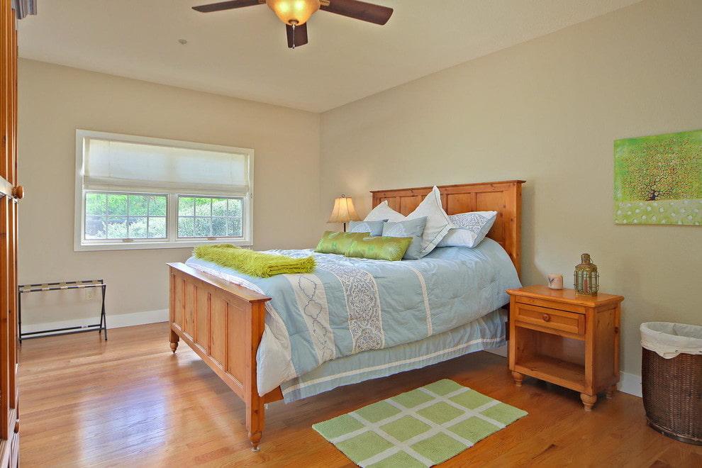 Природный цвет дерева в спальне по фен-шуй
