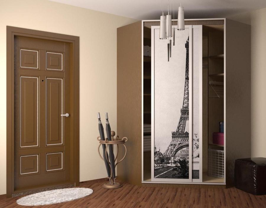 Угловой шкаф-купе с пятью стенками
