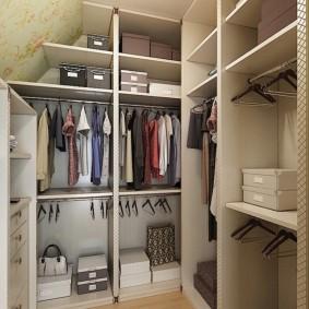 узкая длинная гардеробная идеи дизайн