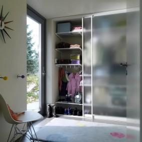 узкая длинная гардеробная идеи интерьер