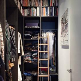 узкая длинная гардеробная дизайн