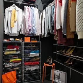 узкая длинная гардеробная фото дизайн