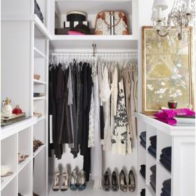 узкая длинная гардеробная фото дизайна