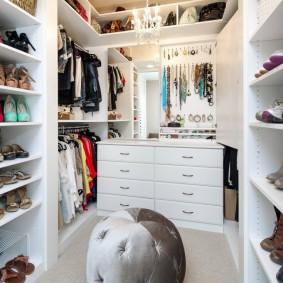 узкая длинная гардеробная дизайн идеи