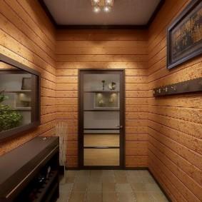 Отделка стен в коридоре панелями под дерево