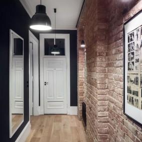Лофт в интерьере небольшого коридора