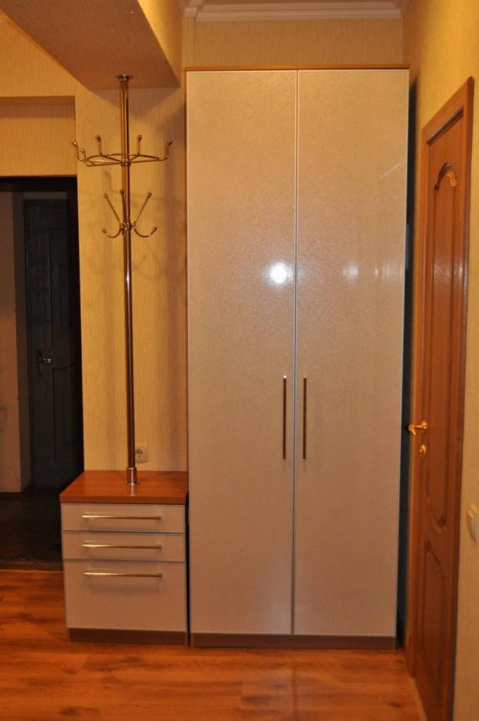 Узкий шкаф с распашными створками